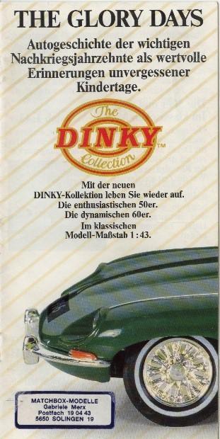 Dinky Katalog 1989