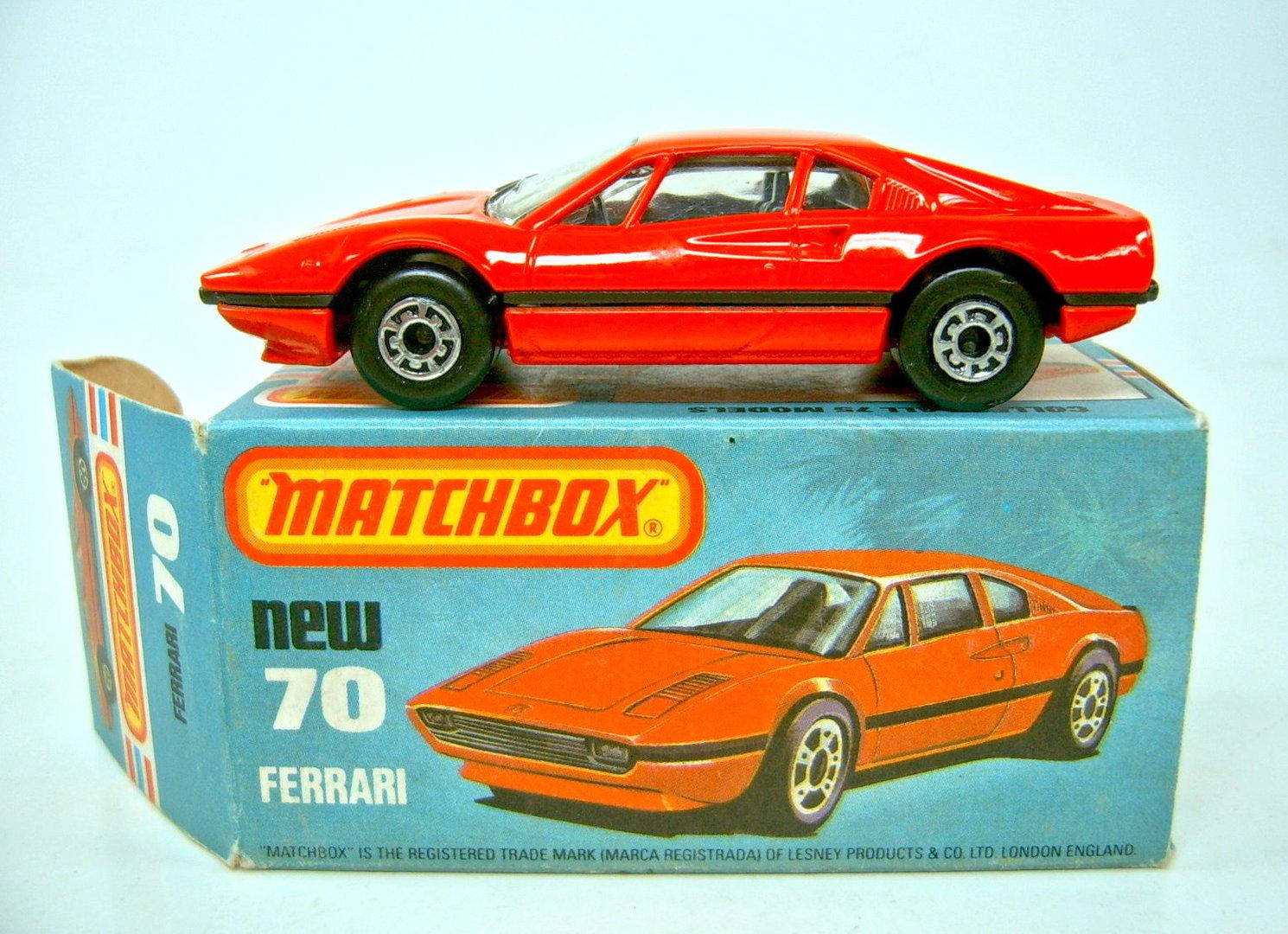 70d Ferrari 308 Gtb Harveys Matchbox